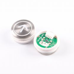 DA511G02 Elevator Button for Mitsubishi Elevator, Arrow Up WhiteLED with Braille