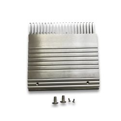 KM5002051H01 Kone Comb Plate R3C-B with Cover Strip and Screws, RHS 22Tooth L=202.7mm