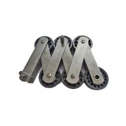 DEE3685364 Kone 13RI-A  Step Chain with Faigle 75mm Roller, Kettenwulf