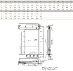 MS120/E120 Eshine Elevator Door, E120 Fire-proof Two Panels Side Opening RHS