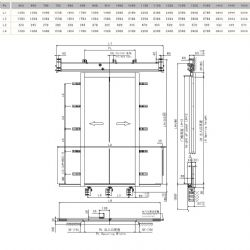 120 Fire-proof Two Panels Centre Opening Eshine Door MS111/E120