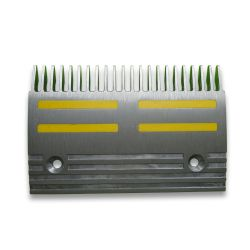 KM51150994V000 Kone Comb Plate EJV-C, 22Tooth L=197.4mm with Yellow Insert Inlay