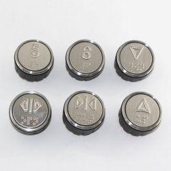 BR36 COP Push button for Xizi Otis Elevator, hairline brushed with Braile Blue illumination