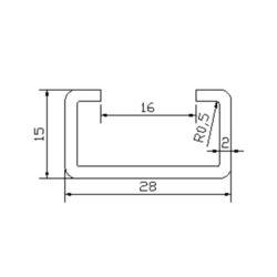 DSA3002045 escalator guide rail for Lg sigma escalator 28*15mm