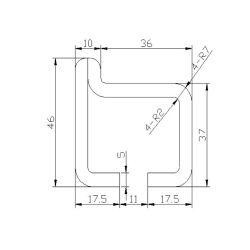 13525806-1 escalator guide rail for Hitachi 46*36mm