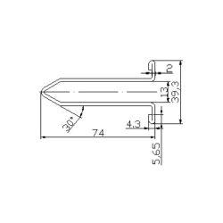 XAA50CG1 escalator guide rail for  escalator 74*39.3mm