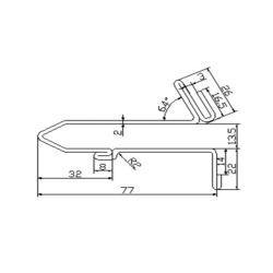 61-G06-0S-2(3/4) escalator guide rail for Fujitec escalator 74*22mm