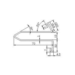 XAA50DK escalator guide rail for  escalator 73*13mm