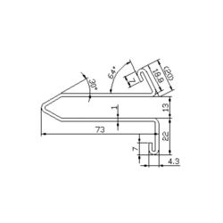 Z575116 escalator guide rail for  escalator 73*13mm