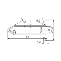 XAA50DZ escalator guide rail for  escalator 73*37.3mm