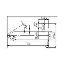 XAA50CG2 escalator guide rail for  escalator 73*39.3mm