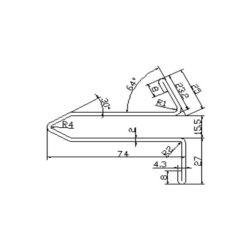 0430CBH escalator guide rail for Fujitec escalator 74*27mm