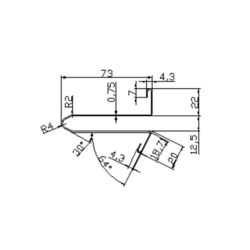 DSA2002189 escalator guide rail for Lg sigma escalator 73*22mm