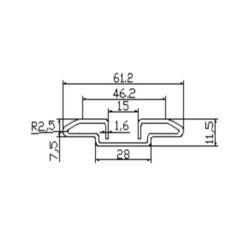 501P5317 escalator guide rail for Toshiba escalator 61.2*11.5mm