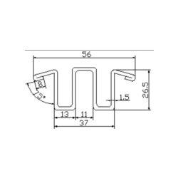 DSA2001082 escalator guide rail for Lg sigma escalator 56*26.5mm