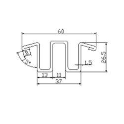 TF21130 escalator guide rail for SJEC escalator 60*26.5mm