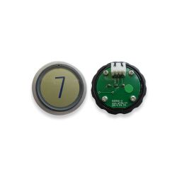 Push Button for  Elevator, Mark 7 Green LED 3Pin