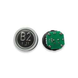 Push Button with Braille for  Elevator, Mark B2 Green LED 3Pin