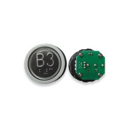 Push Button with Braille for  Elevator, Mark B3 Green LED 3Pin