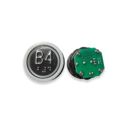 Push Button with Braille for  Elevator, Mark B4 Green LED 3Pin