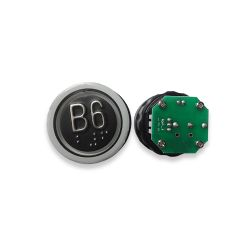 Push Button with Braille for  Elevator, Mark B5 Green LED 3Pin