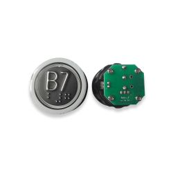 Push Button with Braille for  Elevator, Mark B7 Green LED 3Pin